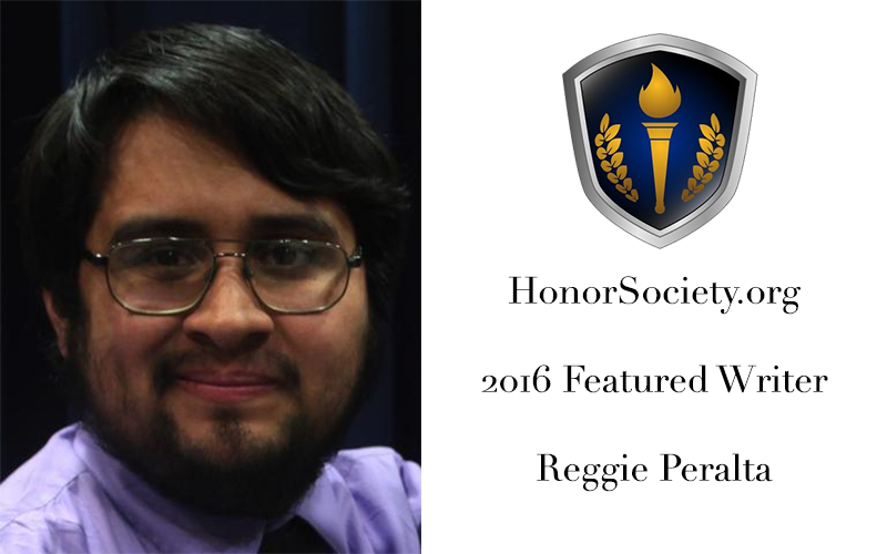 Reggie Peralta - HonorSociety.org Featured Writer