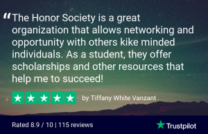 The Honor Society is a great organization that allows networking and opportunity with others kike minded individuals. As a student, they offer scholarships and other resources that help me to succeed!